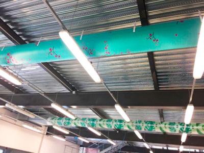 Formas y colores de los ductos textiles