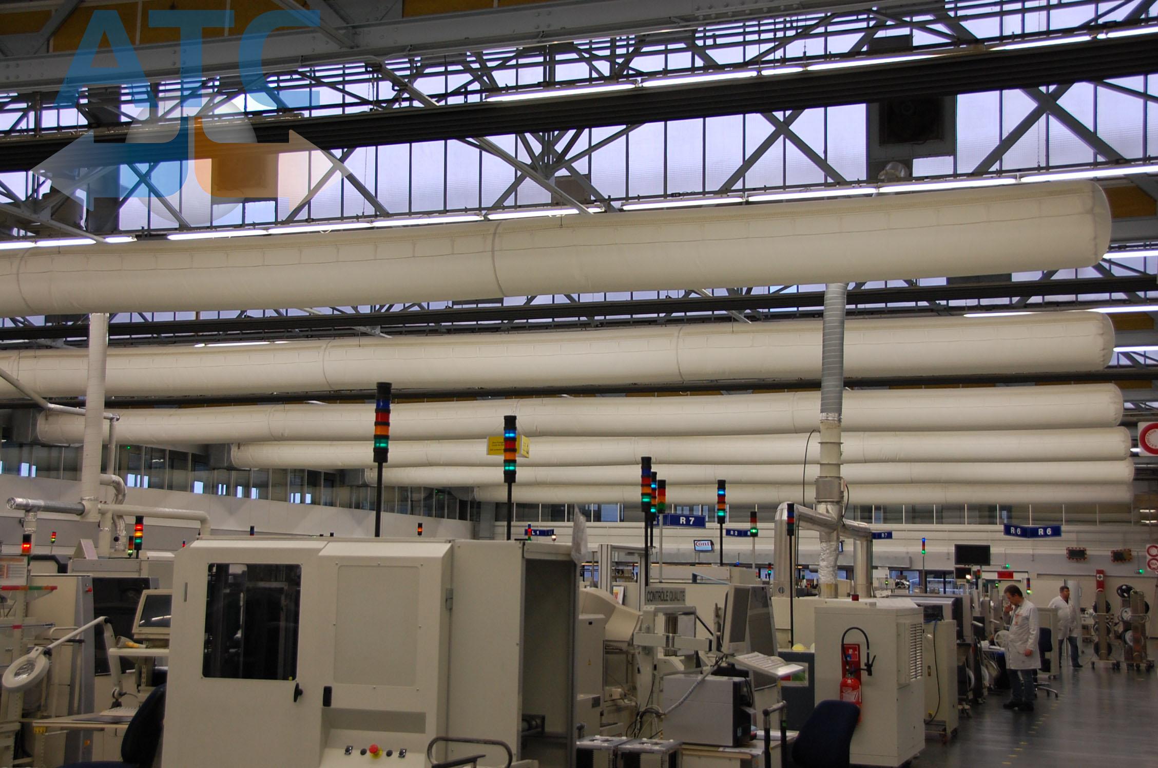 Las aplicaciones del ducto textil