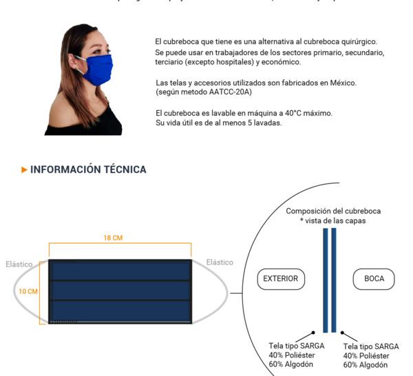CUBREBOCA by Aero Textile Concept